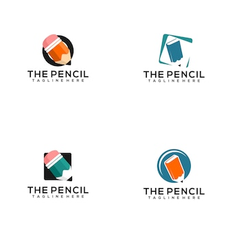 Pencil logo collection