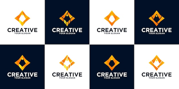 Pencil logo reference collection for business, application, education and others