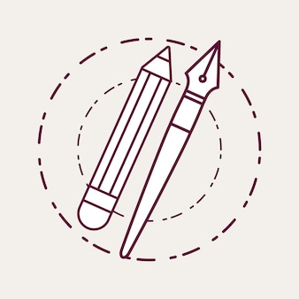 Pencil and pen icon