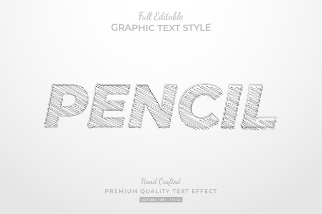 Pencil sketch editable text style effect