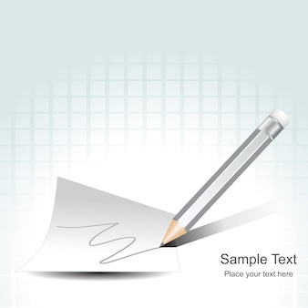 Векторный карандаш на бумаге