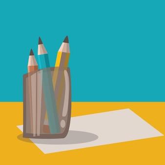 연필 그래픽 벡터