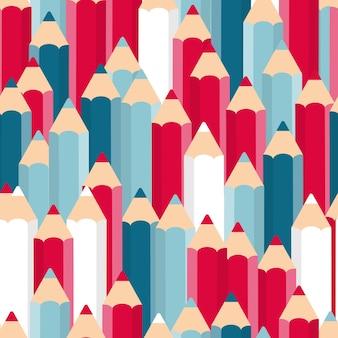 Pencils seamless pattern background vector illustration. eps10