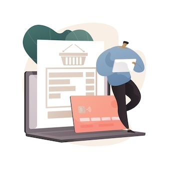 Pending payment abstract illustration in flat style