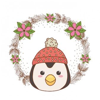 Penguin cartoon with hat