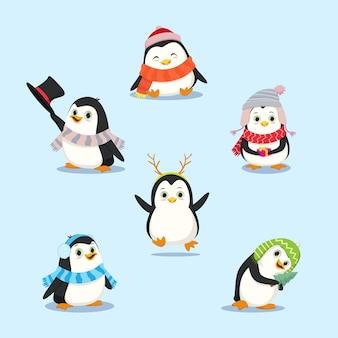 Набор для сбора пингвинов Premium векторы