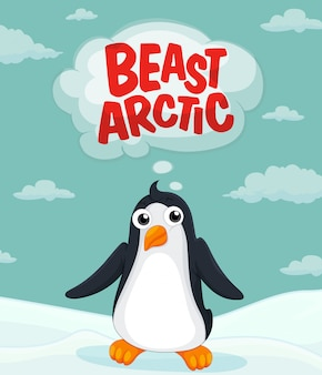 Penguin living in the arctic