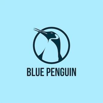 Penguin logo design in circle