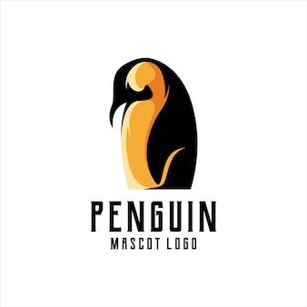 Penguin logo mascot illustration