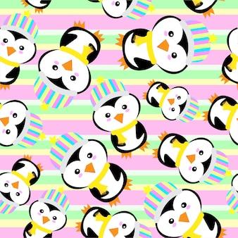 Penguin pattern background