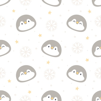 Penguin seamless pattern background