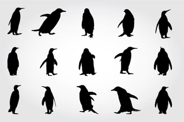 Penguin silhouettes