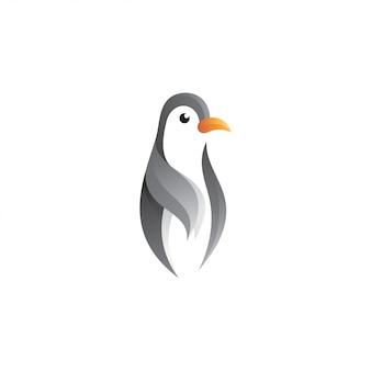 Пингвин в стиле градиентного цвета