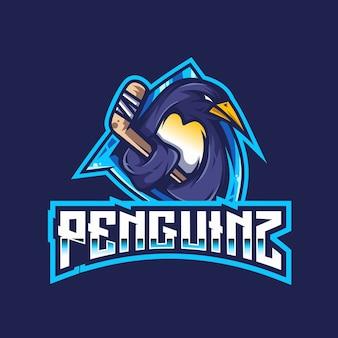 Шаблон логотипа penguinz esport