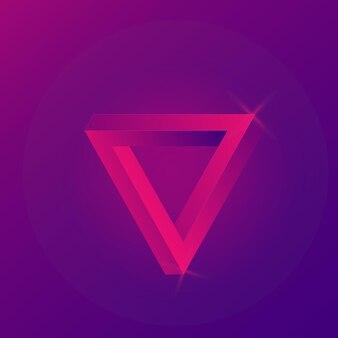 ペンローズトライアグル。幾何学的な3dオブジェクトの目の錯覚。孤立した背景上のベクトル。 eps10。
