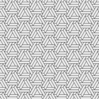 Penrose triangle pattern seamless