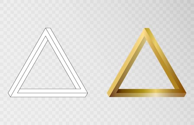 펜로즈 삼각형 벡터