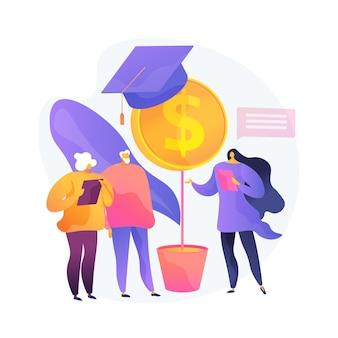 연금 수령자 재정적 이해력. 금융 교육, 저축 관리, 투자 인식. 고령자에게 금융 제도의 기초를 설명하는 컨설턴트. 벡터 격리 된 개념은 유 그림