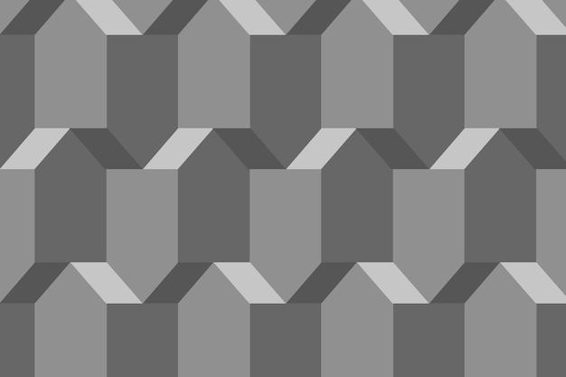 Pentagono 3d disegno geometrico vettore sfondo grigio in stile astratto