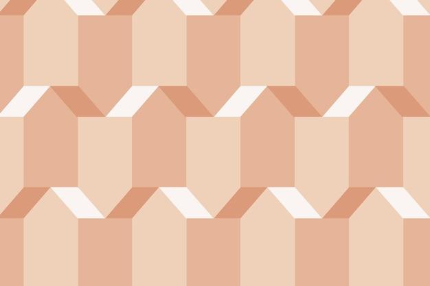 Pentagon 3d geometric pattern vector orange background in modern style