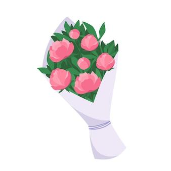 모란 꽃다발 꽃의 꽃다발