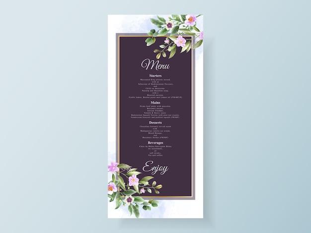 Peony and roses wedding invitation card