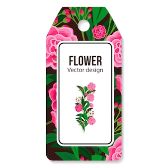 Peony  tag for flower shop