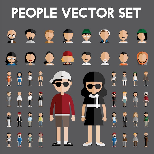 People and accessories collection