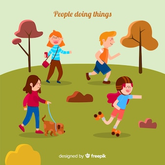 People activities at park