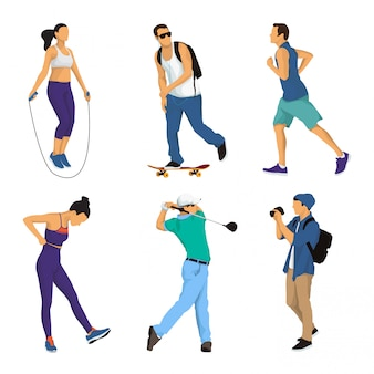 People activity vector illustration collection