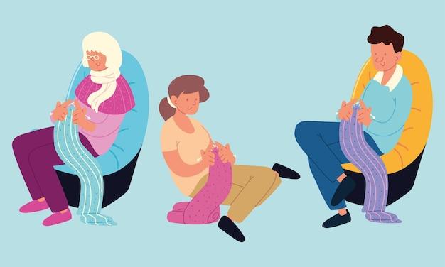 Люди и вязание