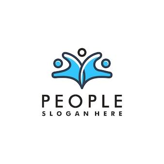 Люди и единство логотип символ значок концепции