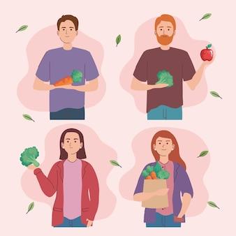 사람과 야채