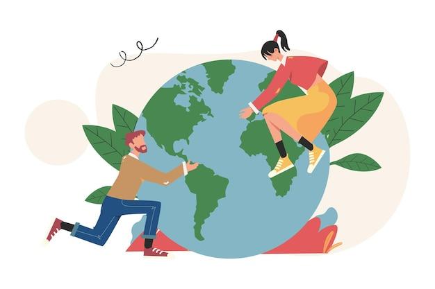 사람들은 휴가를 준비하고 지구를 구합니다, 세계 환경의 날