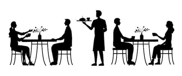 Люди сидят в уютном городском кафе