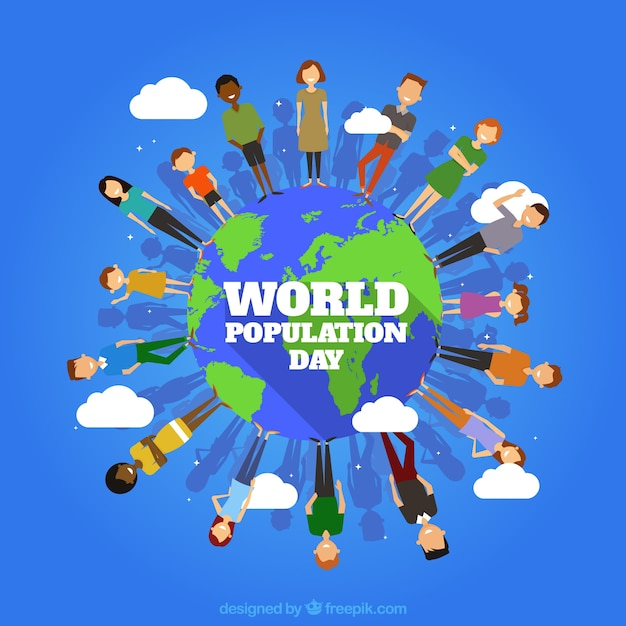 People around the world background