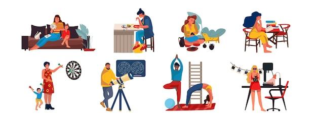 Люди дома иллюстрации