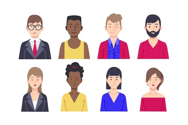 Концепция аватара людей для темы иллюстрации