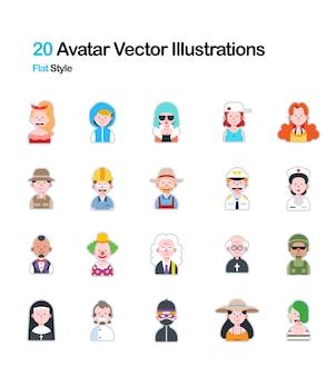 People avatar flat illustration
