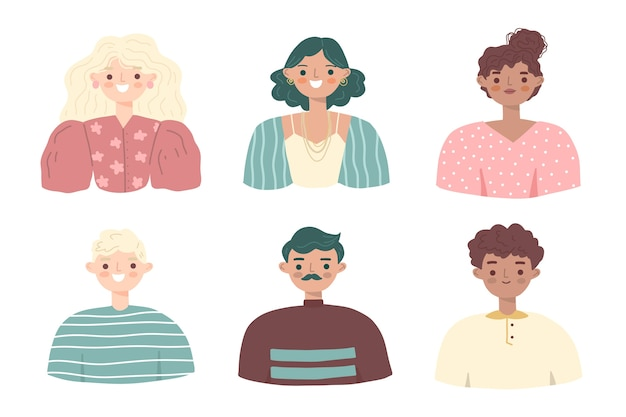 People avatars illustration collection