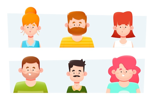 Raccolta dell'illustrazione degli avatar della gente