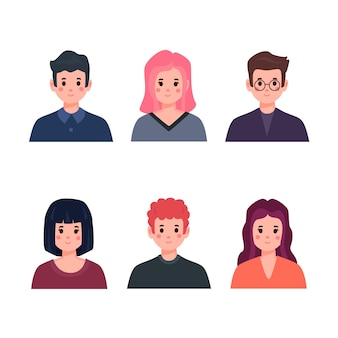 People avatars illustration concept