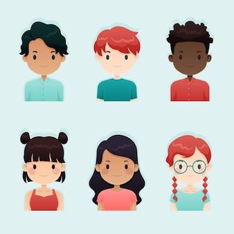 People avatars illustration concept