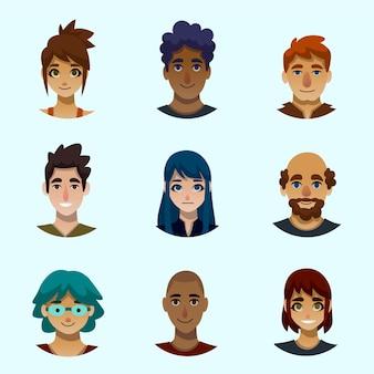 Иллюстрация людей аватары