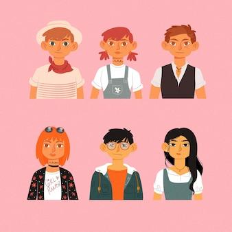 People avatars illustration
