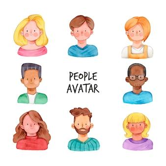 Avatar di persone isolati su sfondo bianco