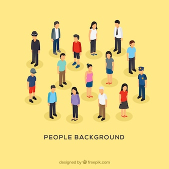 People background with flat design