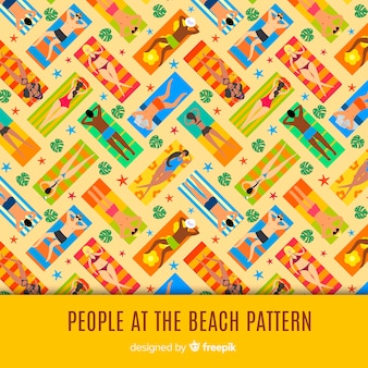 People at the beach pattern