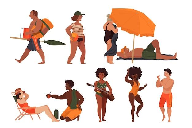 Le persone in spiaggia