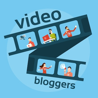 People blogger video blog concept